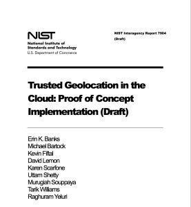 Geolocation NIST 7904