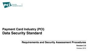 PCI DSS v2