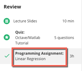 Review - Programming Assignment